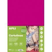Kreslicí karton APLI A4/180gr/50lis fuchsiová