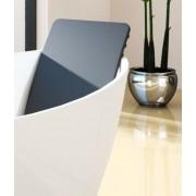 Hoesch Rückenlehne 676x360 mm aus Polyethuran für Badewanne Namur 69194 schwarz