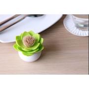 Stojanček na špáradlá Lotus, bieli / zelený