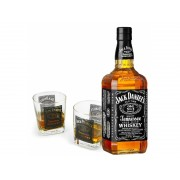 Jack Daniel's Metal Box, 2 Glasses