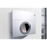 Radius Design Letterman 1 Briefkasten weiß (RAL 9003) mit Klingel in rot ohne Pfosten