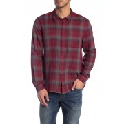 John Varvatos Star USA Plaid Reversible Trim Fit Shirt CRIMSON