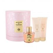 Acqua di Parma Rosa Nobile confezione regalo eau de parfum 100 ml + doccia gel 75 ml + lozione corpo 75 ml per donna