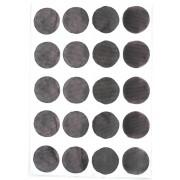 CHOCOVENYL Stickers pois aquarelle - Noir