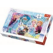 Puzzle clasic pentru copii Frozen - Ana si Elsa Prietenie 100 piese