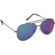Arzonai Ultimate Blue Aviator Shape UV Protected Sunglasses for Men & Women (MA-904-S9)
