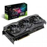 Видео карта Nvidia GeForce RTX 2080, 8GB, Asus ROG Strix RTX 2080 OC, PCI-E 3.0, GDDR6, 256 bit, 2x Display Port, 2x HDMI, 1x USB Type C, Real Time Ray Tracing технология, Aura Sync RGB подсветка