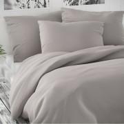 Lenjerie de pat din satin Luxury Collection, gri deschis, 140 x 200 cm, 70 x 90 cm, 140 x 200 cm, 70 x 90 cm