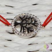 Bratara charm argint 925 pomul vietii 16mm