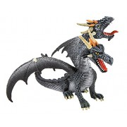 Bullyland Dragon with Two Heads in Black Action Figure