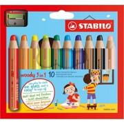 Creioane colorate,10b/set,asc,StabiloWoody