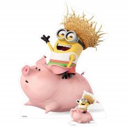 Star Cut Outs Despicable Me 3: Minion Riding a Pig Over-Sized Cut Out