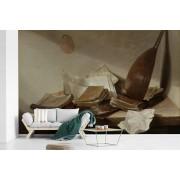Stilleven met boeken - Schilderij van Jan Davidsz de Heem fotobehang vinyl 345x220 cm - Foto print op behang