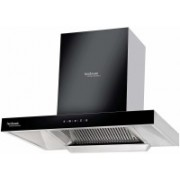 Hindware 60 cm 1200 m³ HR Auto-Clean Angular Kitchen Chimney Wall Mounted Chimney(Black 1200 CMH)