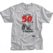 Motomania T-Shirt MOTOmania T-SHIRT ÜBER 50 grau XL grau