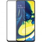 Azuri Gehard Glas Samsung Galaxy A80 Screenprotector Glas Zwart