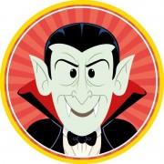 Merkloos 10x Halloween onderzetters vampier/Dracula