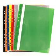 Dosar plastic cu sina EVOffice 11 perforatii A4, Galben, set 50 buc