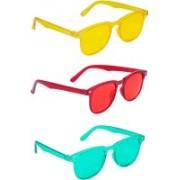 TheWhoop Wayfarer Sunglasses(Red, Yellow, Green)