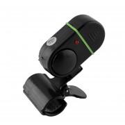 Duola LED de luz electrónico de los pescados de la mordedura de alarma sonido de la campana de alerta Clip-On Pesca