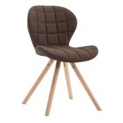 CLP Chaise visiteur Alyssa tissu piètement rond, marron CLP marron, hauteur de l'assise