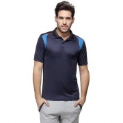 Campus Sutra Half Sleeve Blue T-Shirt For Men