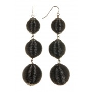 Natasha Accessories Wired Sphere Drop Earrings METALLIC BLACK