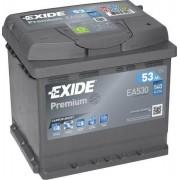 EXIDE Premium EA530 53Ah 540A autó akkumulátor jobb+ (+AJÁNDÉK!)