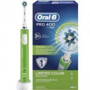 Електрическа четка за зъби Oral-B Pro 400 D16.513 CrossAction накрайник, Зелена
