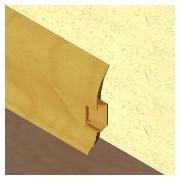 PBC605 - Plinta LINECO din PVC culoare stejar auriu pentru parchet - 60 mm