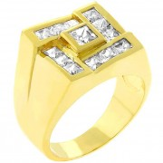 J Goodin 14k Gold Bonded Men's Ring R07821G-C01