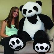 CLICK4DEAL Giant Stuffed/Spongy/Huggable Cute Panda Teddy Bear,152cm(Black and white)