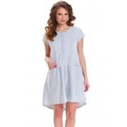 Dn-nightwear TCB.9445 Noční košilka XL grey melange