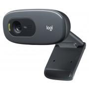 Logitech C270 HD-Webcam, 720p, 30 fps, 3MP, FoV 60°, Fester Fokus