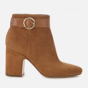 MICHAEL MICHAEL KORS Women's Alana Suede Heeled Ankle Boots - Acorn - US 6/UK 3 - Tan