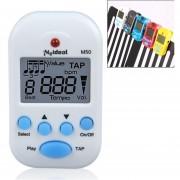 Mini Clip De Alta Calidad Profesional De Piano Violín Electrónico Metrónomo Sintonizador Digital M50 (blanco)