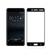 Tempered Glass For Nokia 3 Full Screen Black Colour Standard Quality
