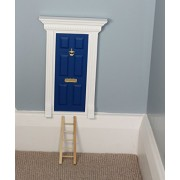 Magical Little World Fairy Door - The Best Beach Hut Blue Magic Door with Ladder set for your child's room - perfect for bringing fun adventure and magic to your home