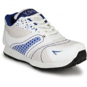 VSS Men's White Synthetic Leather Jogging Sports Shoes