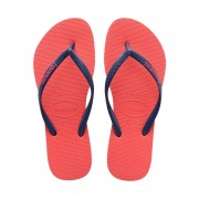 Havaianas Slim Logo Pop Up Flip Flops Coral New Size 5-5.5