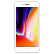 "Telefon Mobil Apple iPhone 8 Plus, iOS 11, LCD Multi-Touch display 5.5"", 3GB RAM, 64GB Flash, Dual 12MP, Wi-Fi, 4G, iOS (Gold) + Cartela SIM Orange PrePay, 6 euro credit, 6 GB internet 4G, 2,000 minute nationale si internationale fix sau SMS nationale din"