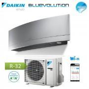 Daikin Climatizzatore Condizionatore Daikin Inverter Emura Silver Wi-Fi Ftxj25ms R-32 Bluevolution A+++ 9000 Btu