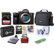 Sony Alpha a7 III 24 MP UHD 4 K cámara digital sin espejo (solo cuerpo) – Paquete de tarjeta SDHC U3 de 32 GB, funda para cámara, batería de repuesto, kit de limpieza, portafolios de memoria, lector de tarjetas, paquete de software Mac