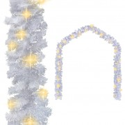 vidaXL Коледен гирлянд с LED лампички, 10 м, бял