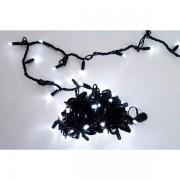 Гирлянда 100 LED, уличная, синее свечение, черный провод 5 м