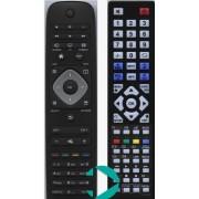 Utángyártott Philips LED TV távirányító YKF308-01, YKF309-01