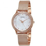Guess Analog Mother of Pearl Dial Womens Watch - W0647L2