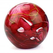Medium Glazen Bal Dieren Urn Elan Marble Red (1.5 liter)
