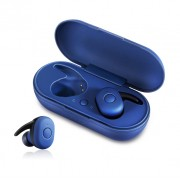 Wireless Bluetooth 5.0 Earphone Headset with Mini Charging Box for iPhone Samsung Huawei Sony - Blue