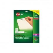 Removable 1/3-Cut File Folder Labels, Inkjet/laser, .66 X 3.44, White, 750/pk